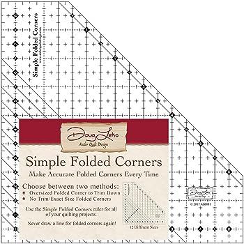 Antler Quilt Design Simple Folded Corners Ruler