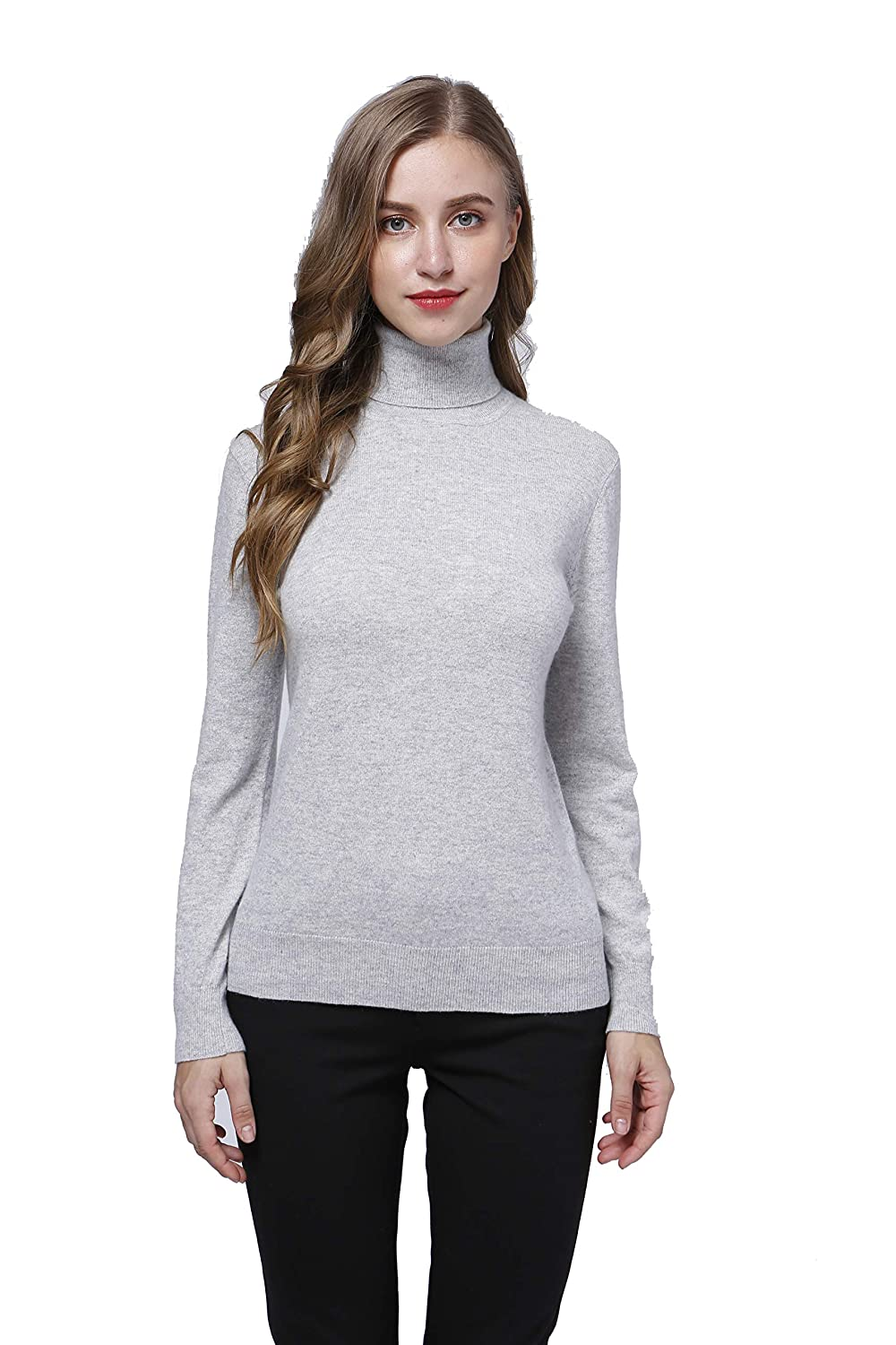 Catkin Acmewear Women's 100% Pure Cashmere Long Sleeve Turtle Neck