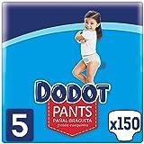 Dodot Pants Pañal - Braguita Talla 5, 150 Pañales, 12 kg - 17 kg, Pañal - Braguita Con Ajuste 360° Anti-fugas