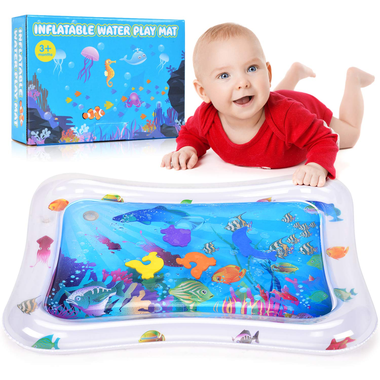 Amazon Com Water Play Mat Battop Inflatable Baby Water Mat Tummy