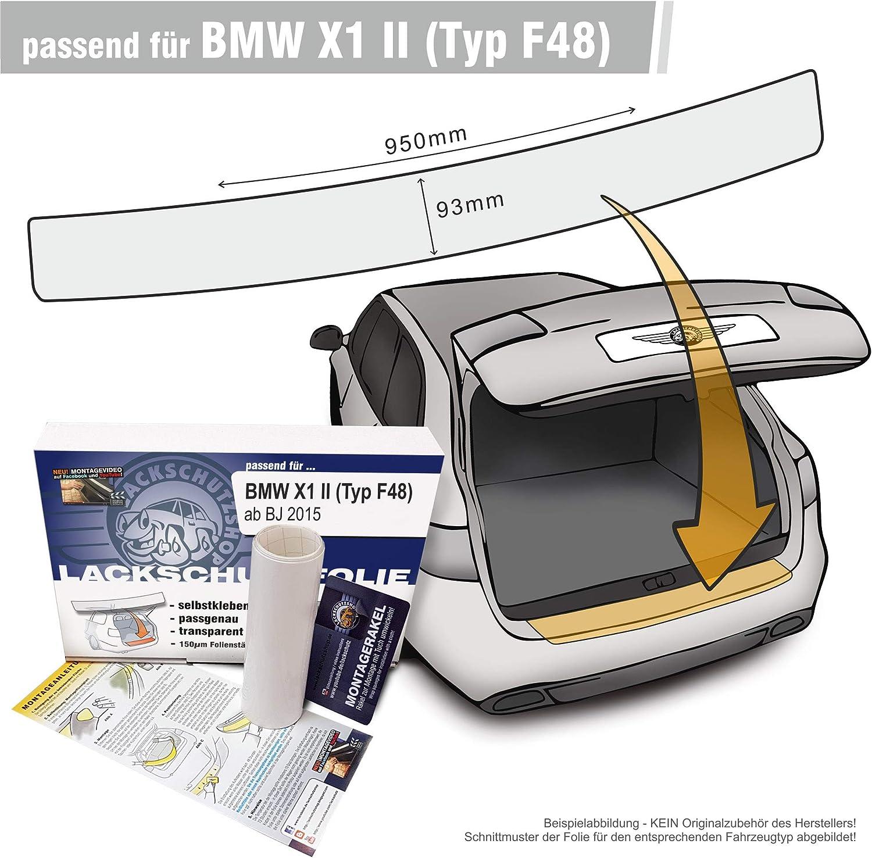 Lackschutzshop Passform Lackschutzfolie Kompatibel Mit Ladekantenschutz Passend Bmw X1 Ii Typ F48 Transparent 150µm Auto