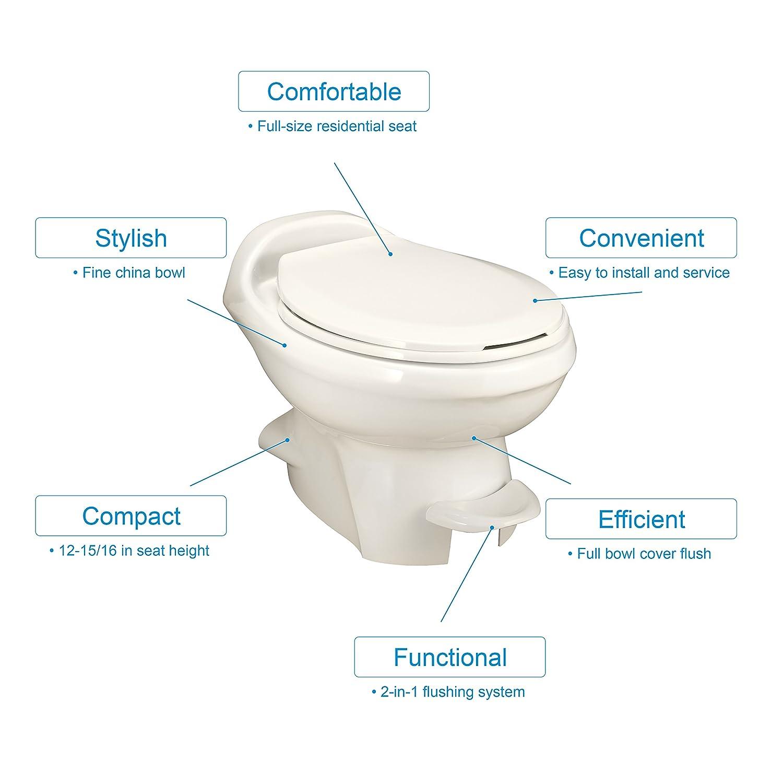 Thetford 34429 Aqua-Magic Style Plus Toilet-High White