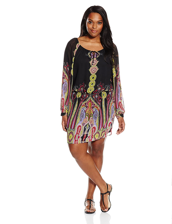8acd245cd8e Single Dress Women s Plus Size Peasant Boho Dress at Amazon Women s Clothing  store