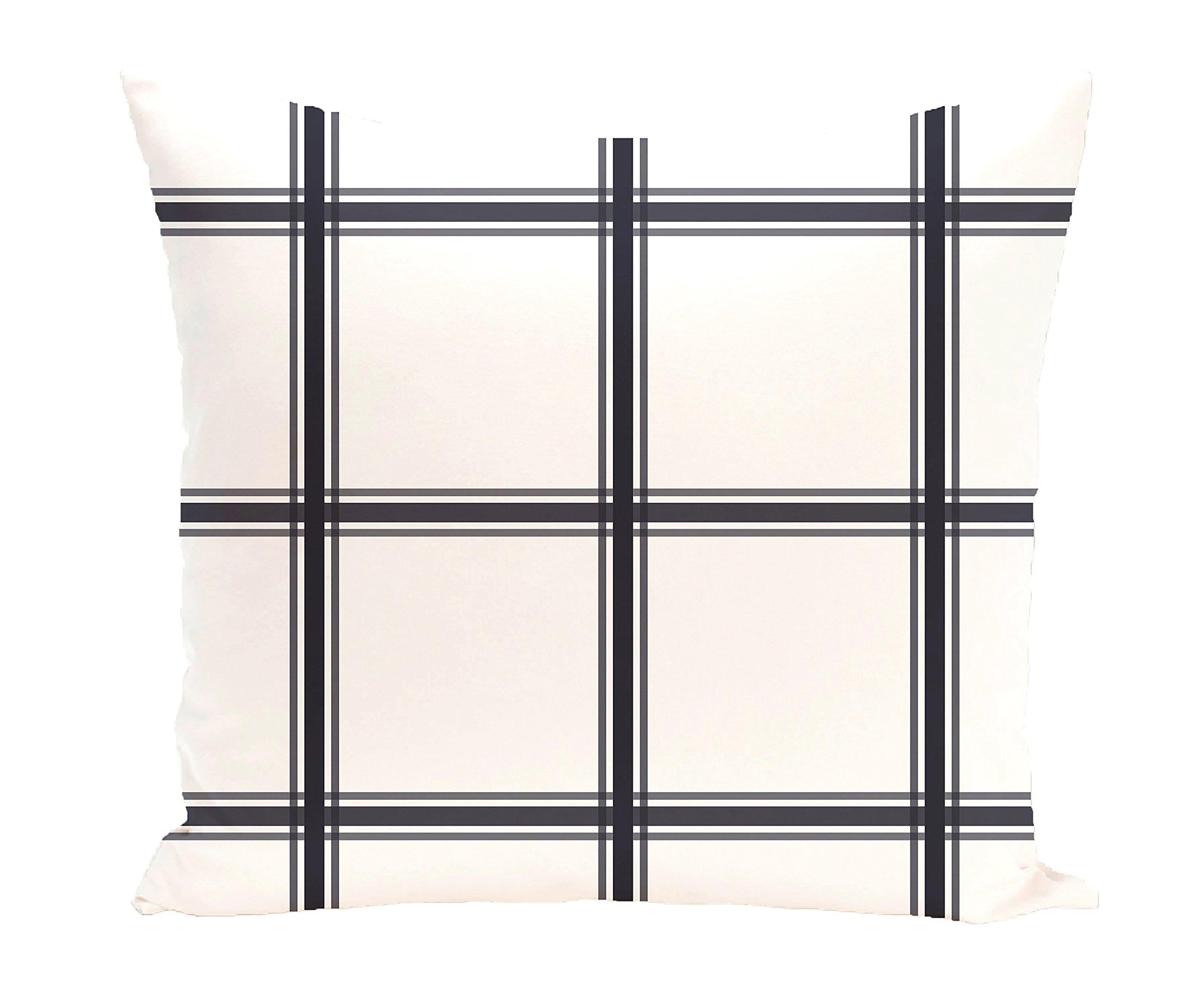 E by design PGN127BL14-20 PGN127BL14-20 Windowpane Plaid Geometric Print Pillow, Bewitching,Navy Blue