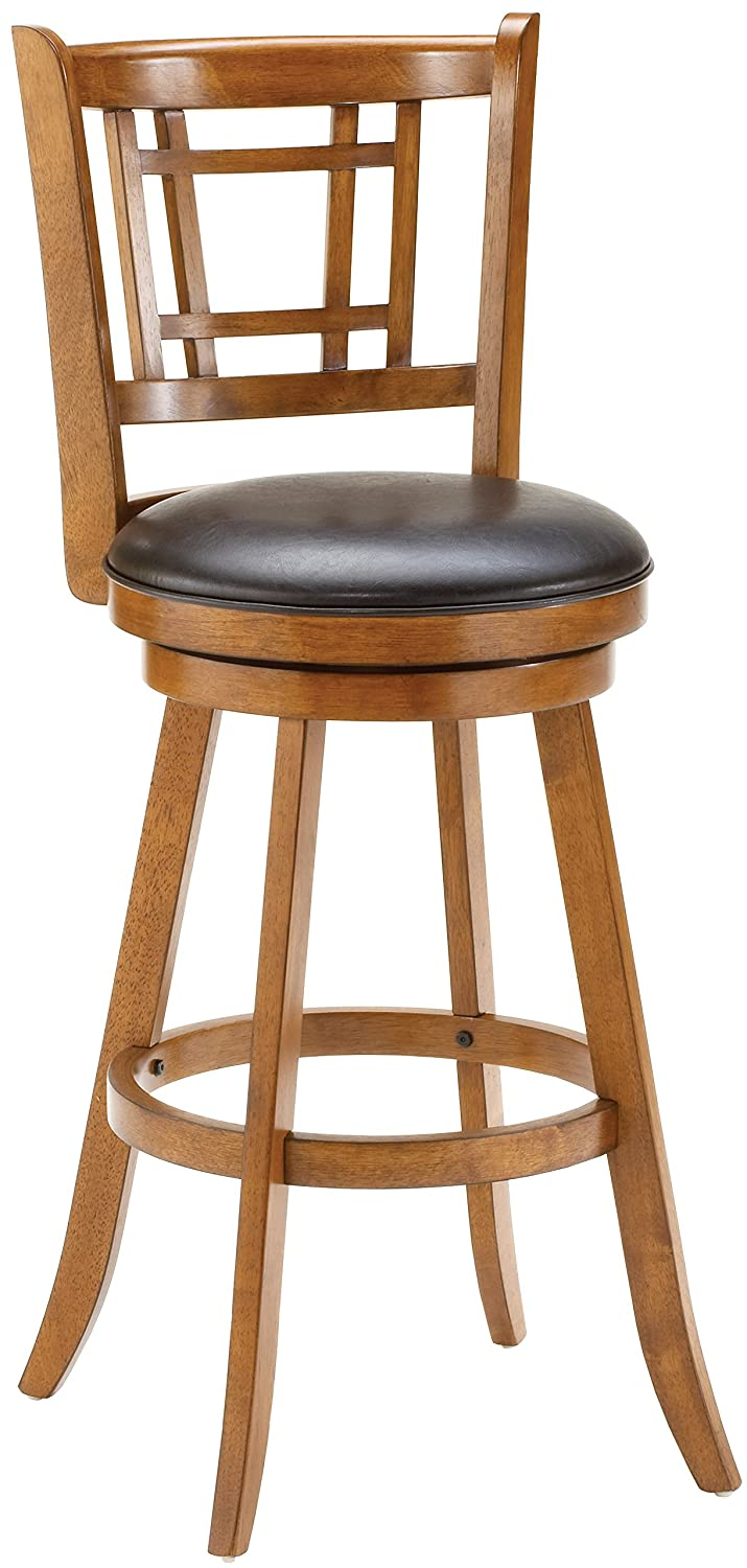 Amazon.com: Hillsdale 4650-830 Fairfox Swivel Bar Stool, Oak ...