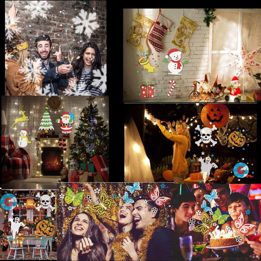 Luz de Proyector Fiesta Luces Navidad Linterna Vacaciones Lampara Antorchas
