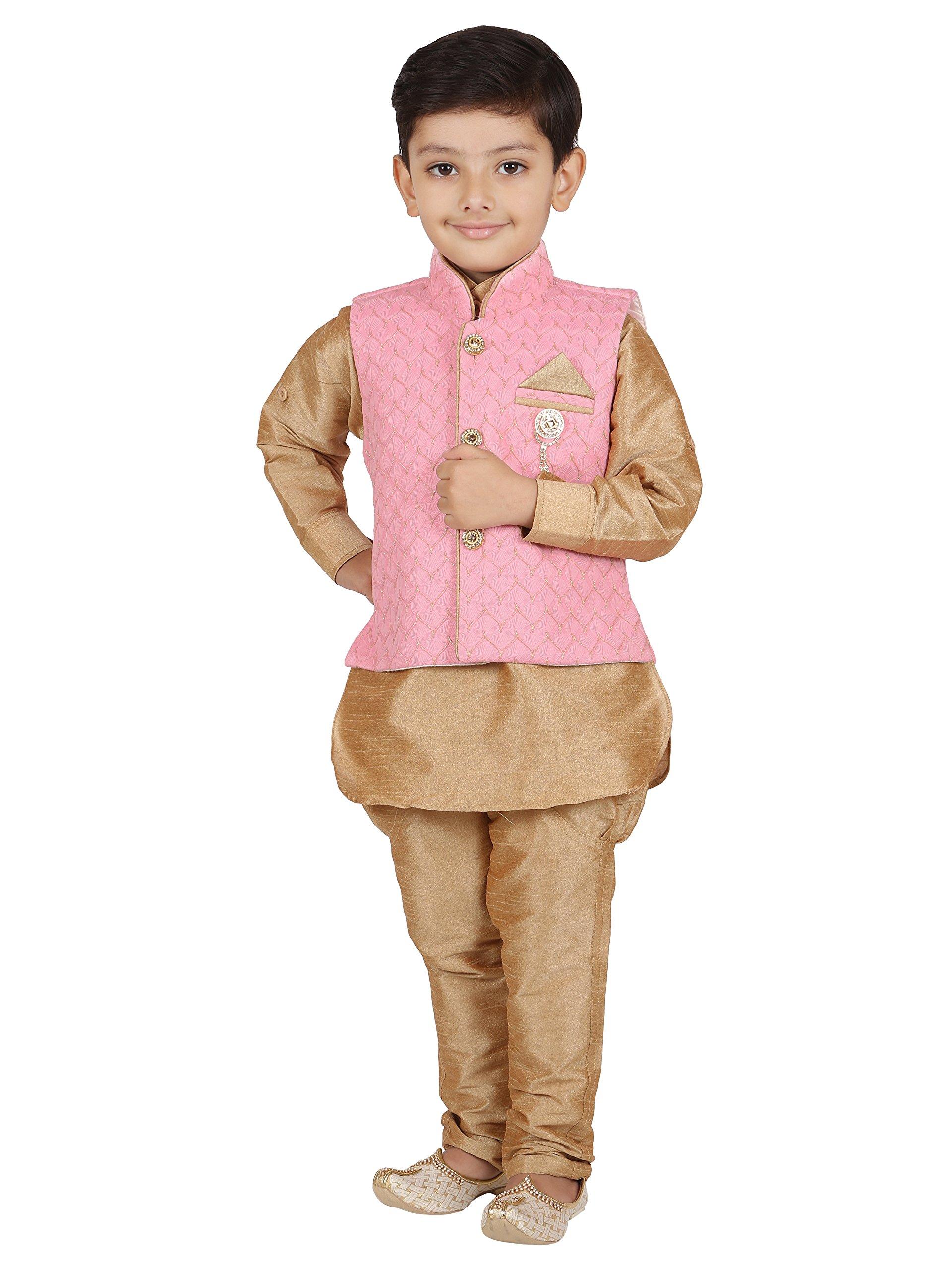 AJ Dezines Kids Indian Wear Bollywood Style Kurta Pyjama Waistcoat for Baby Boys