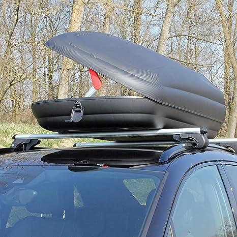 Dachtr/äger CRV107 kompatibel mit Volkswagen Sharan II Dachbox VDPMAA320 320Ltr abschlie/ßbar schwarz ab 2010 5 T/ürer