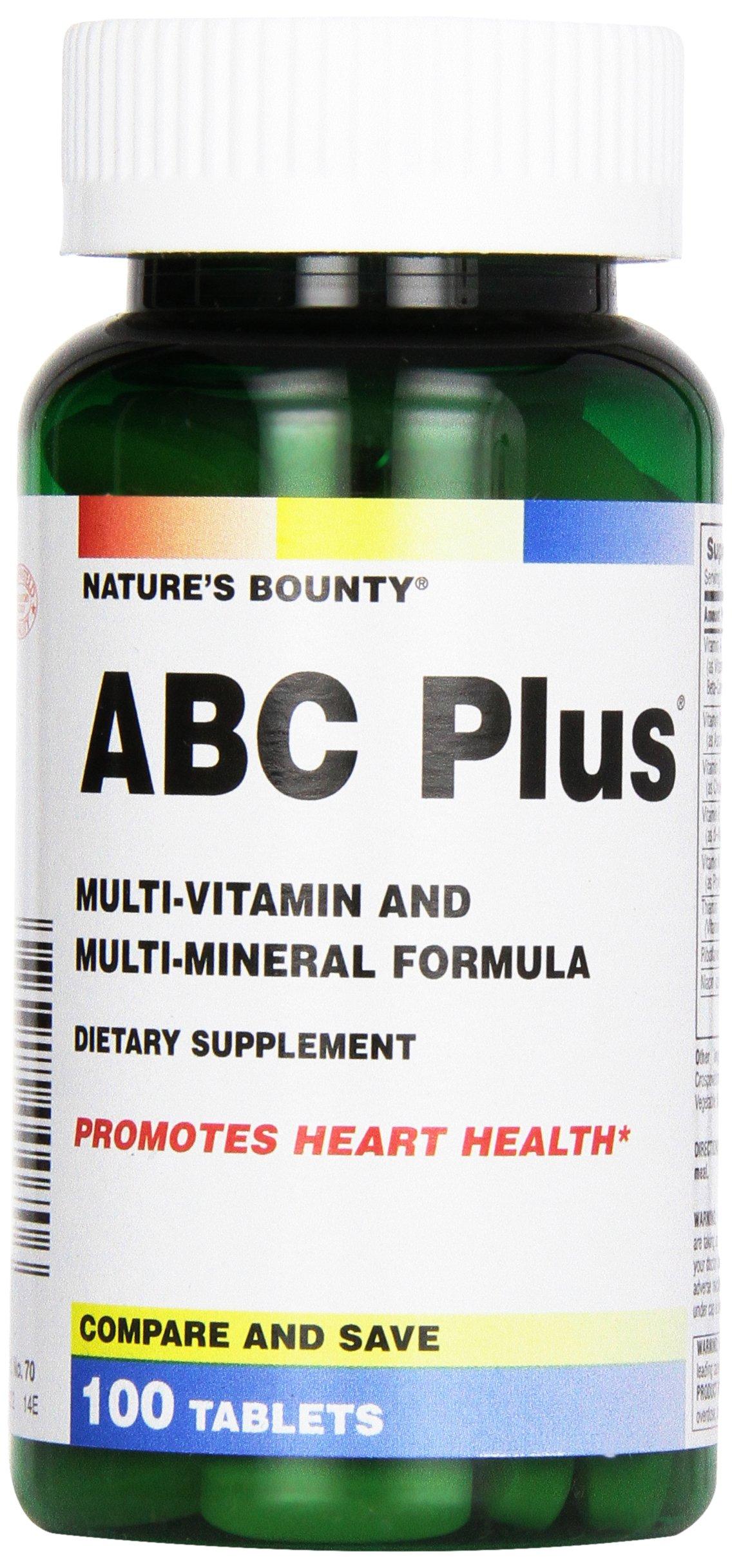 Nature's Bounty, ABC Plus w/Lutein & Lycopene Cetrium Tablets, 100 ct