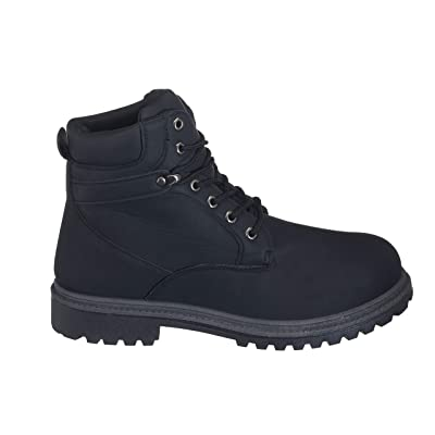 26 Accessories Men's Soft Toe Waterproof Work Boots Lace Up Slip Resistant Shoes | Boots