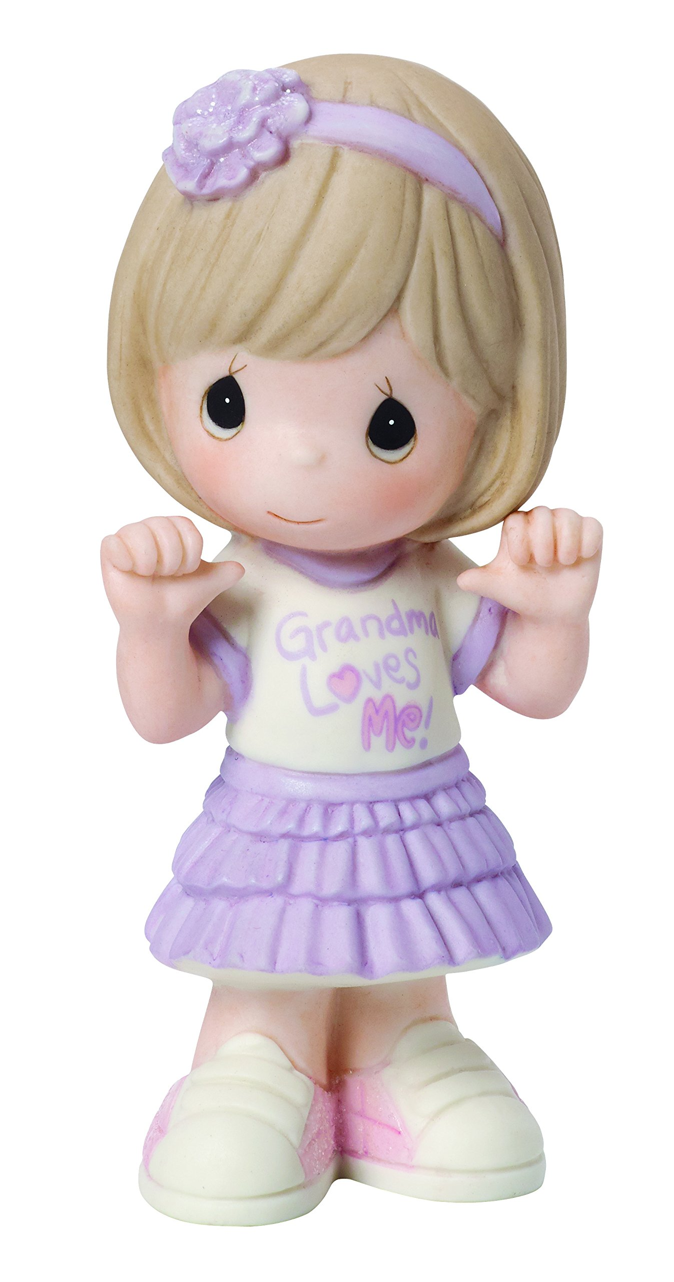 Precious Moments, Grandma Loves Me, Bisque Porcelain Figurine, Girl, 154032 by Precious Moments (Image #1)