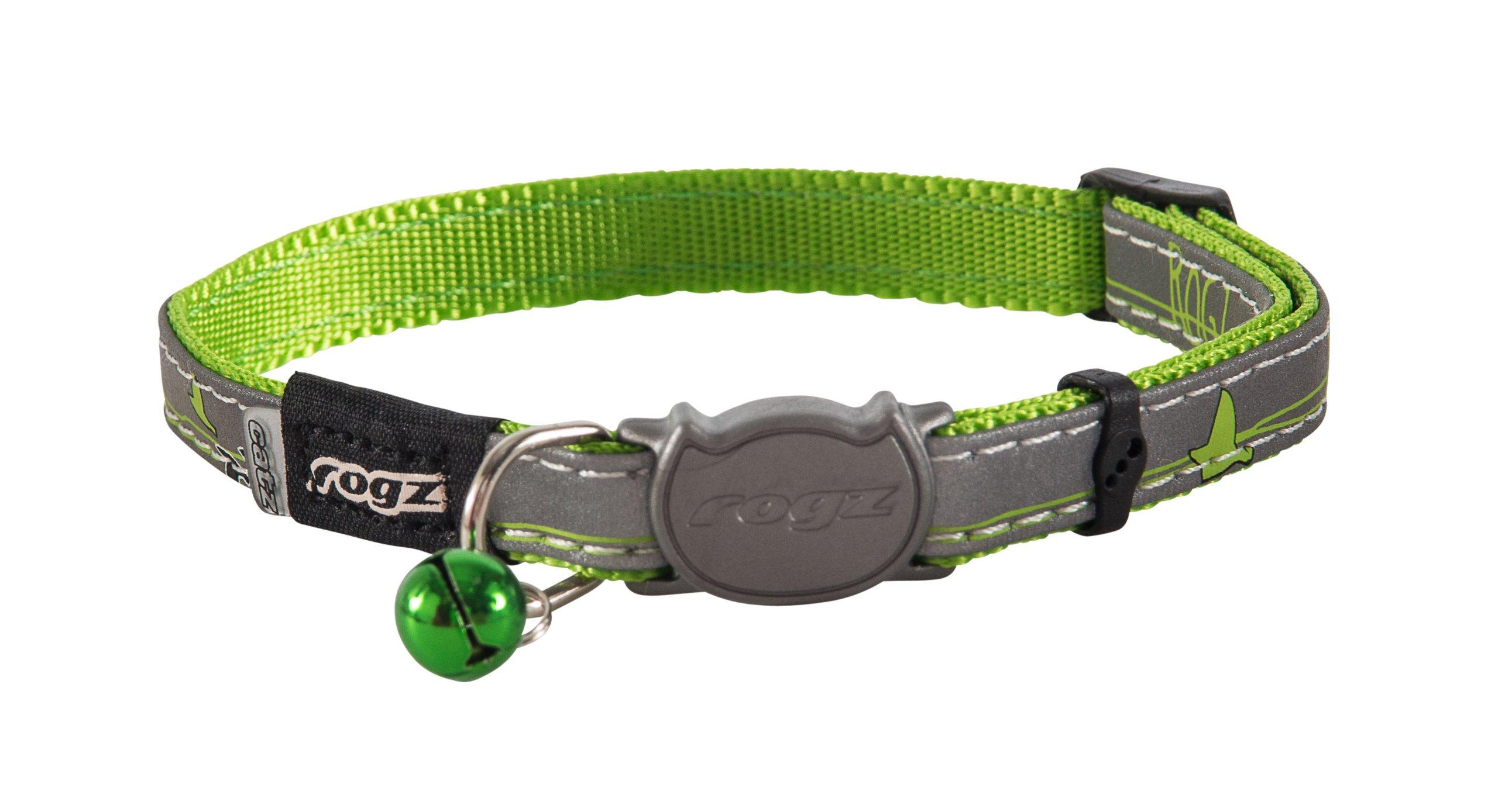 ROGZ CB08-L Reflective Cat Collar, Lime, One Size