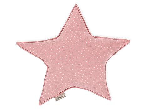 KraftKids - Cojín con forma de estrella, diseño de lunares ...