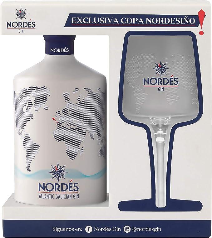 Ginebra Premium nacional Nordés - Estuche 1 botella de ginebra Nordés + con copa Nordesiño de regalo: Amazon.es: Alimentación y bebidas