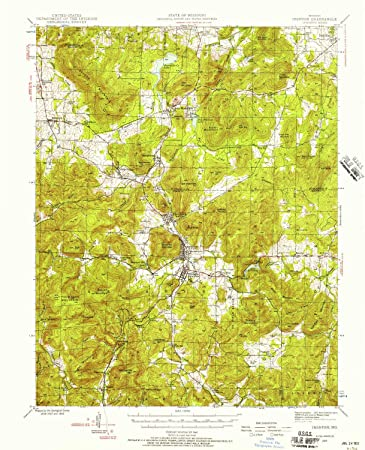 Amazon Com Yellowmaps Ironton Mo Topo Map 1 62500 Scale 15 X 15