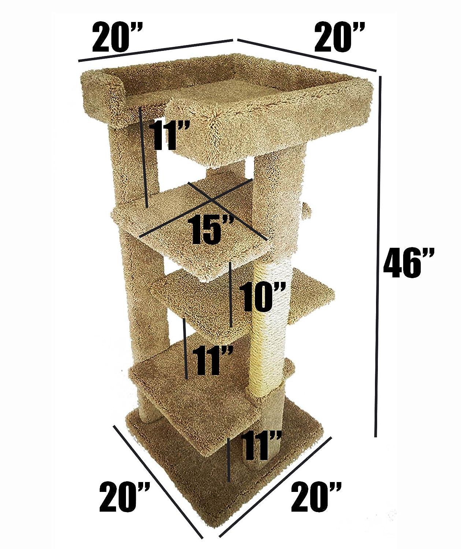 Amazon.com: Grande Torre árbol de gato con de rascadores de ...