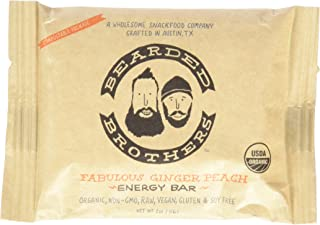 product image for Bearded Brothers Fabulous Ginger Peach Energy Bar, Raw, Vegan, Gluten & Soy Free, Non-GMO, 12 Piece
