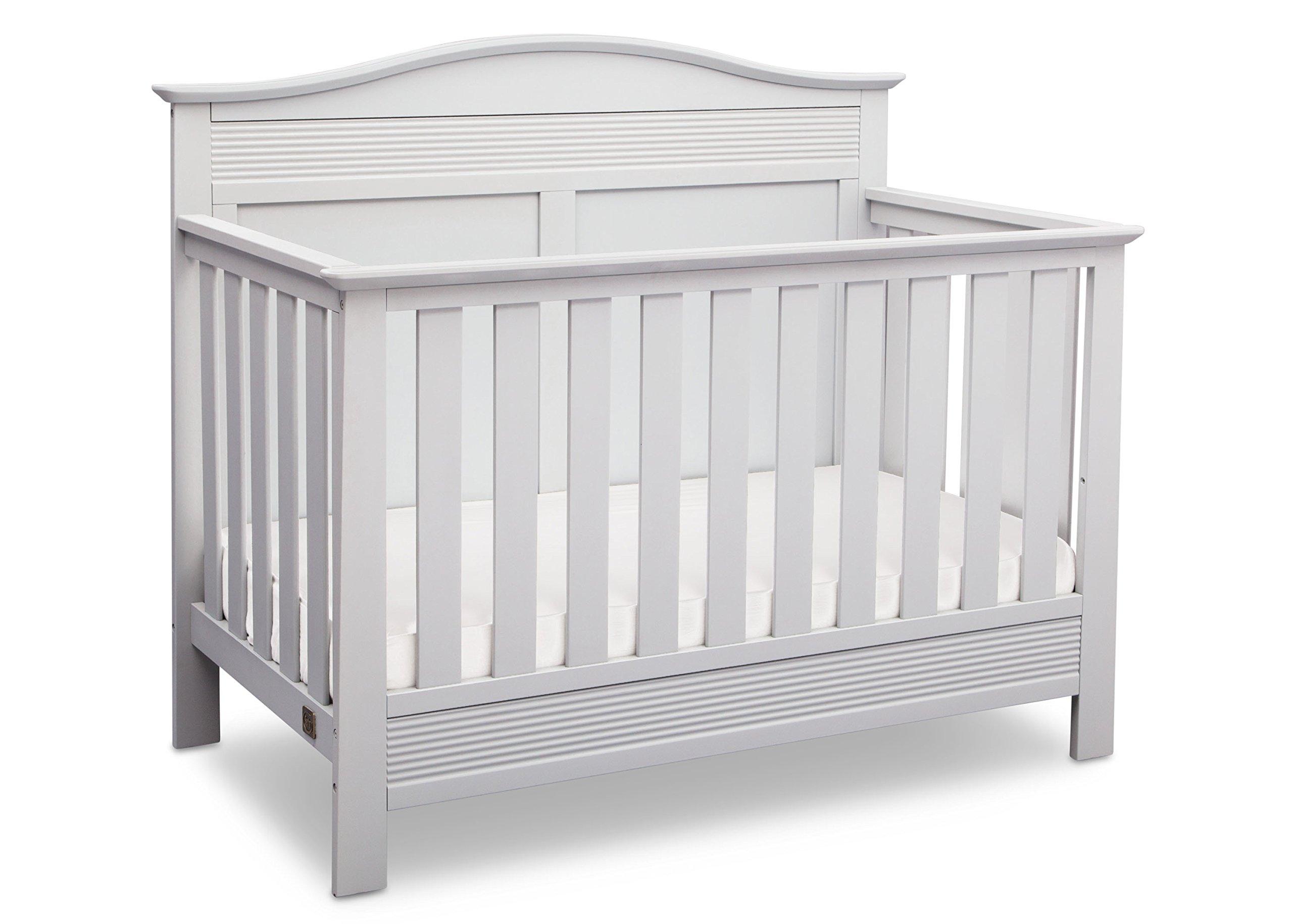 Serta Barrett 4-in-1 Convertible Baby Crib, Bianca White by Serta