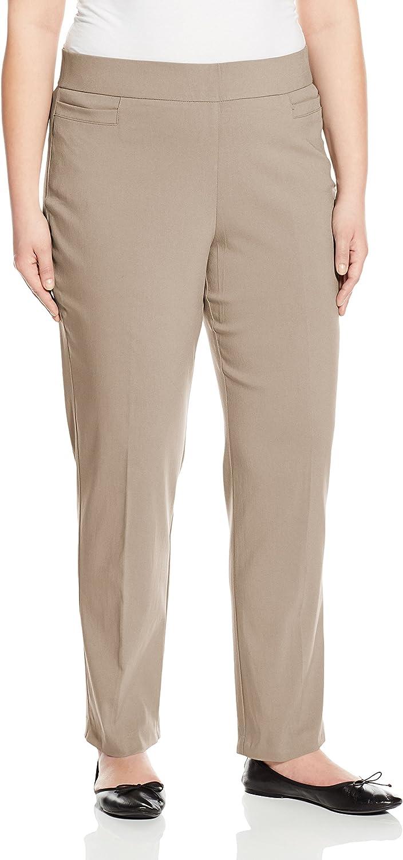 Briggs New York Womens Plus-Size Super Stretch Millennium Welt Pocket Pull On Career Pant