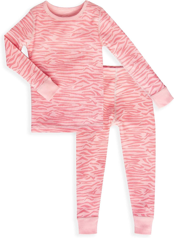 Skylar Luna Pijama para niñas – 100% algodón orgánico Gots Certificado – Pijama de Manga Larga para bebé y Pijama para niños