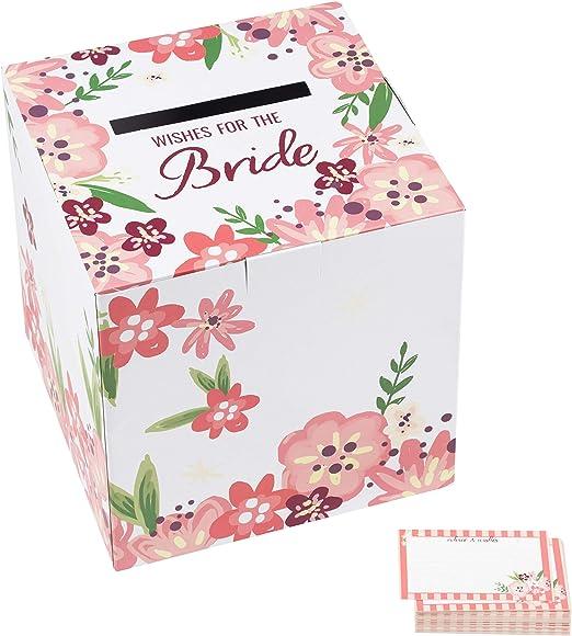 Amazon.com: Juego de cajas y tarjetas para novios con texto ...