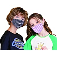 Kids Cotton Mask Washable, Breathable, Lightweight & Reusable Cover For Kids, Boy & Girl, Flexible Fit dust Protector, 3…