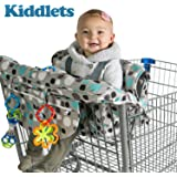 Kiddlets 2-in-1 Shopping Cart Cover   High Chair Cover For Baby   Includes Carrying Bag, Machine Washable, Best Gift Idea