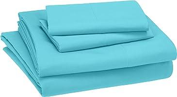 AmazonBasics Juego de sábanas, microfibra suave y fácil de lavar