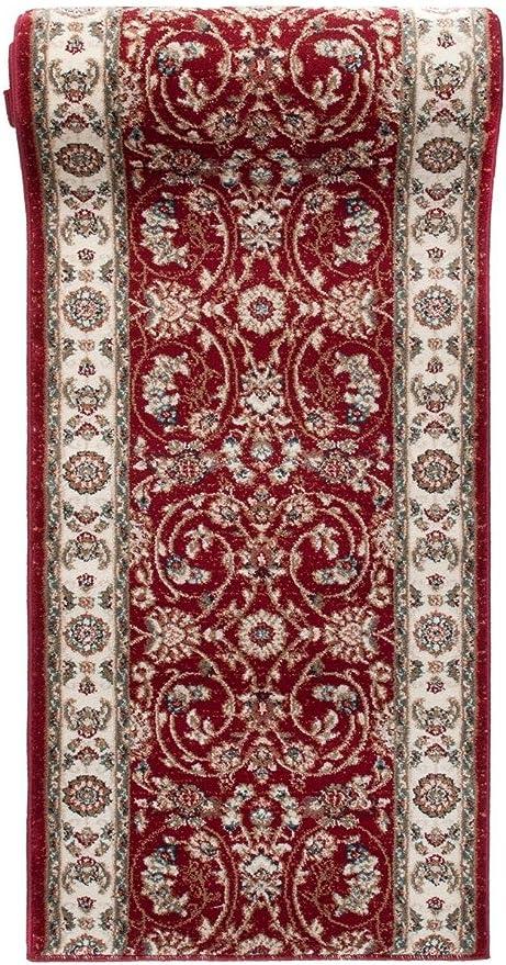 Läufer Teppichläufer 100/% Schurwolle Klassisch Orientalisch Flur Beige 4 Breiten