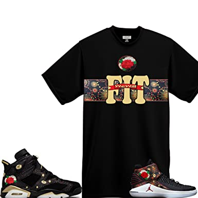 info for 5259f ff3aa WeWillFit Shirt To Match Air Jordan 6 Retro VI CNY Chinese ...