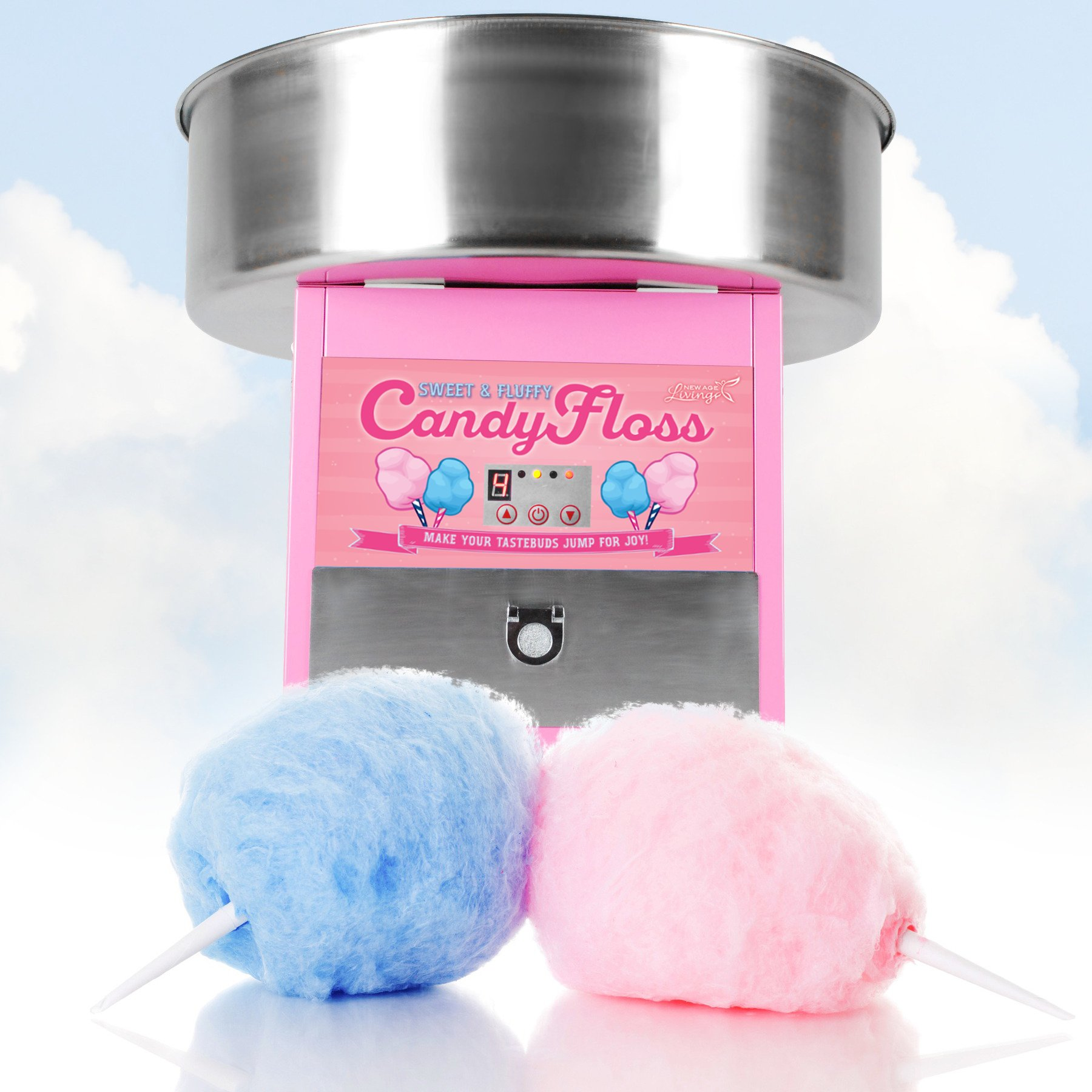 New Age Living DIGITAL Commercial Cotton Candy Machine - Professional Candy Floss Maker - Stainless Steel Bowl & Adjustable Temperature