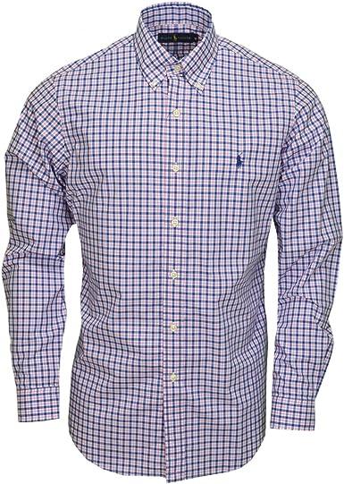Hombre Camisa Custom Fit Manga Larga Rosa XXL: Amazon.es: Ropa y accesorios