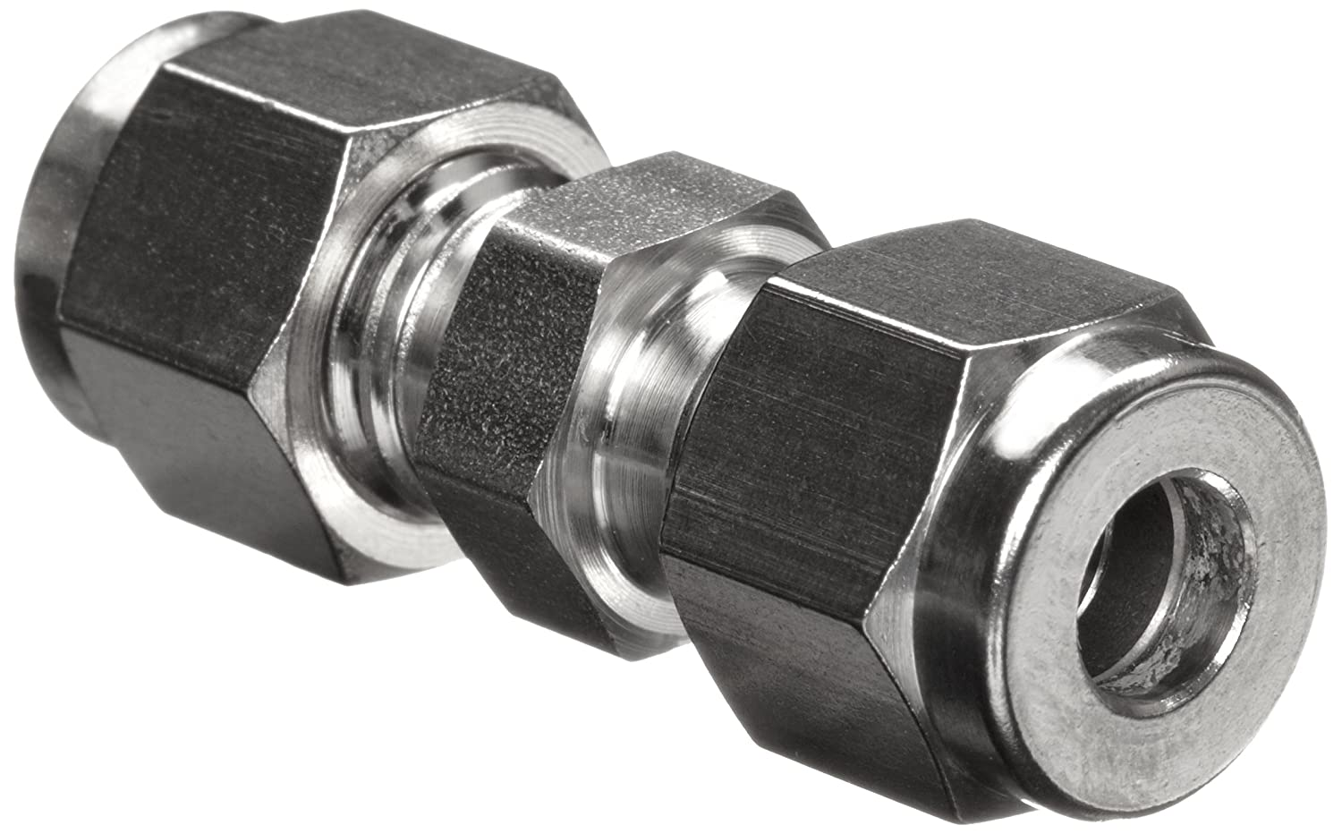 "Parker A-Lok 16SC16-316 316 Stainless Steel Compression Tube Fitting, Union, 1"" Tube OD"
