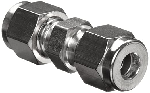 Parker A-Lok 16SC16-316 316 Stainless Steel Compression Tube Fitting,  Union, 1
