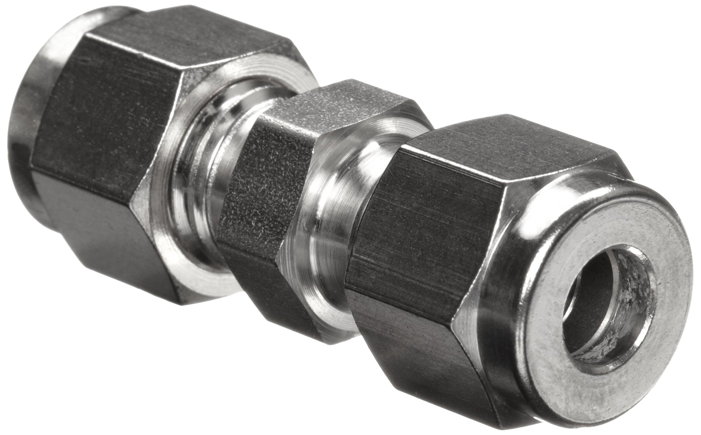 Parker A-Lok 6SC6-316 316 Stainless Steel Compression Tube Fitting, Union, 3/8'' Tube OD