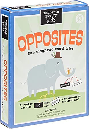 Magnetic Poetry - Opposites Kit - Words for Refrigerator - Write Poems and  Letters on the Fridge: Amazon.co.uk: Toys & Games