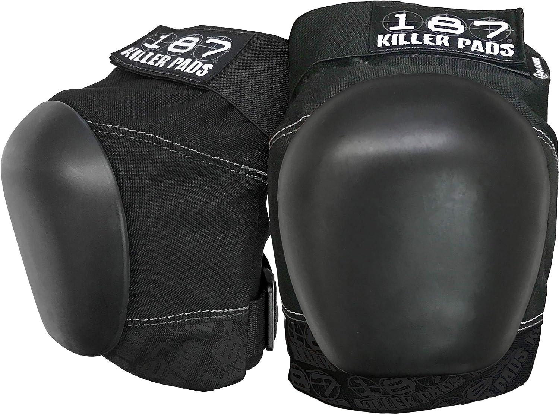 187 Killer Pro Knee Pads, X-Large, Black / Black : Sports & Outdoors