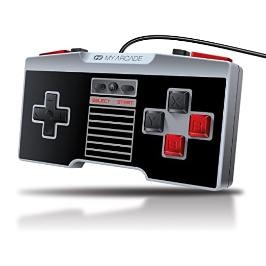 My Arcade GamePad Retro - Classic Wired Controller With 10 Foot Cable for the NES Classic Edition  System