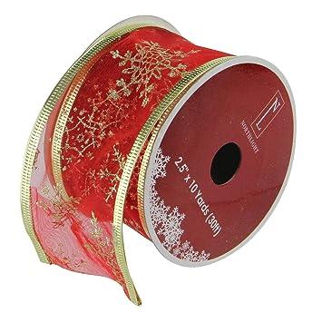 12 Stück Cranberry Rot und Gold Glitzer Schneeflocken Draht ...