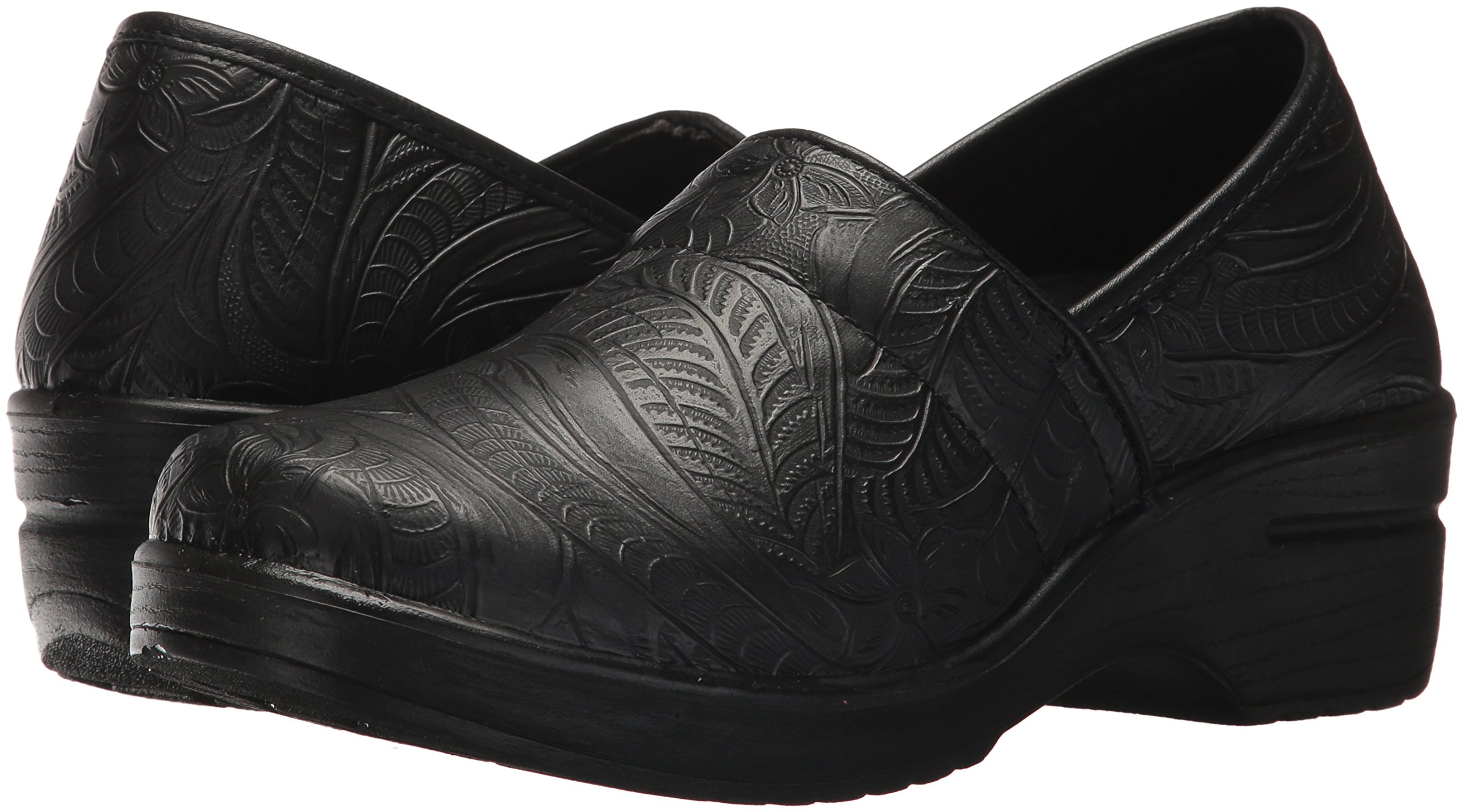 Easy Works Women's Lyndee Health Care Professional Shoe, Black Emboss, 9 W US by Easy Works (Image #5)