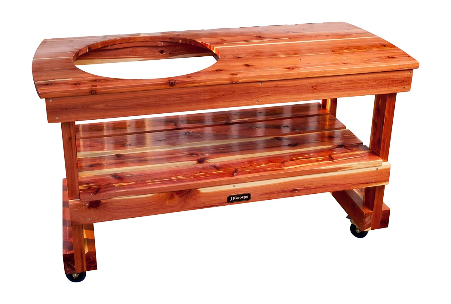 JJ George Big Green Egg Table (Long Table for Large Egg) Table Cover Included
