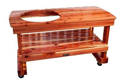 amazon com jjgeorge big green egg table long table for large egg rh amazon com green egg table granite green egg table drawings