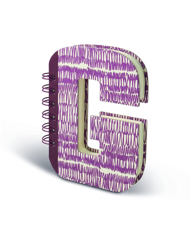 Carta 14x3x19 cm IF Alphabook G Quaderni a Forma di Lettera Multicolore