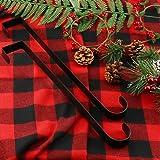 "ESFUN 2 Pack 15"" Black Wreath Hanger for Front"