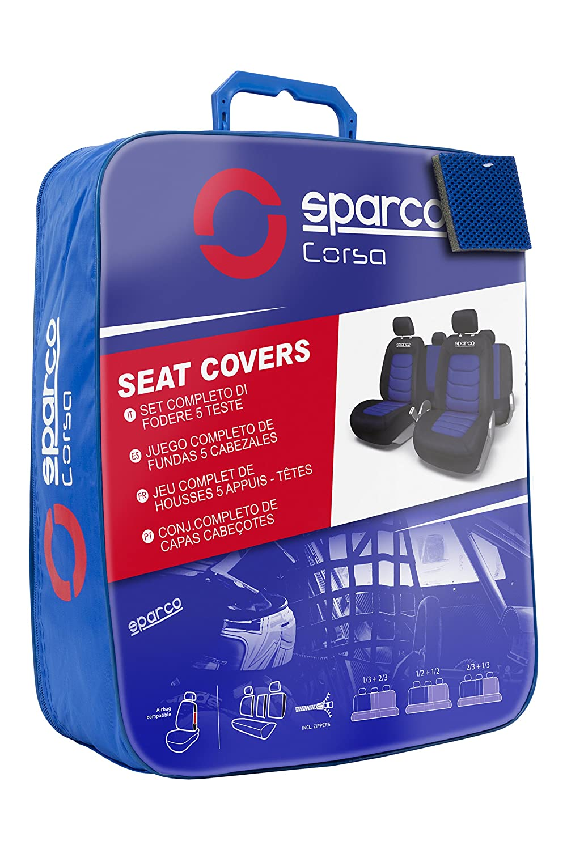 Blue Spacro Universal Seat Cover Black// Red SPC1019AZ