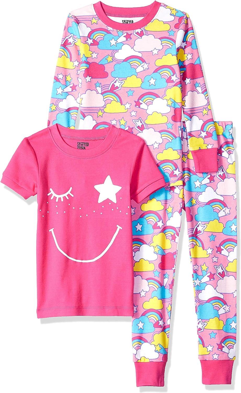 Spotted Zebra Unisex 3-Piece Snug-Fit Cotton Pajama Set