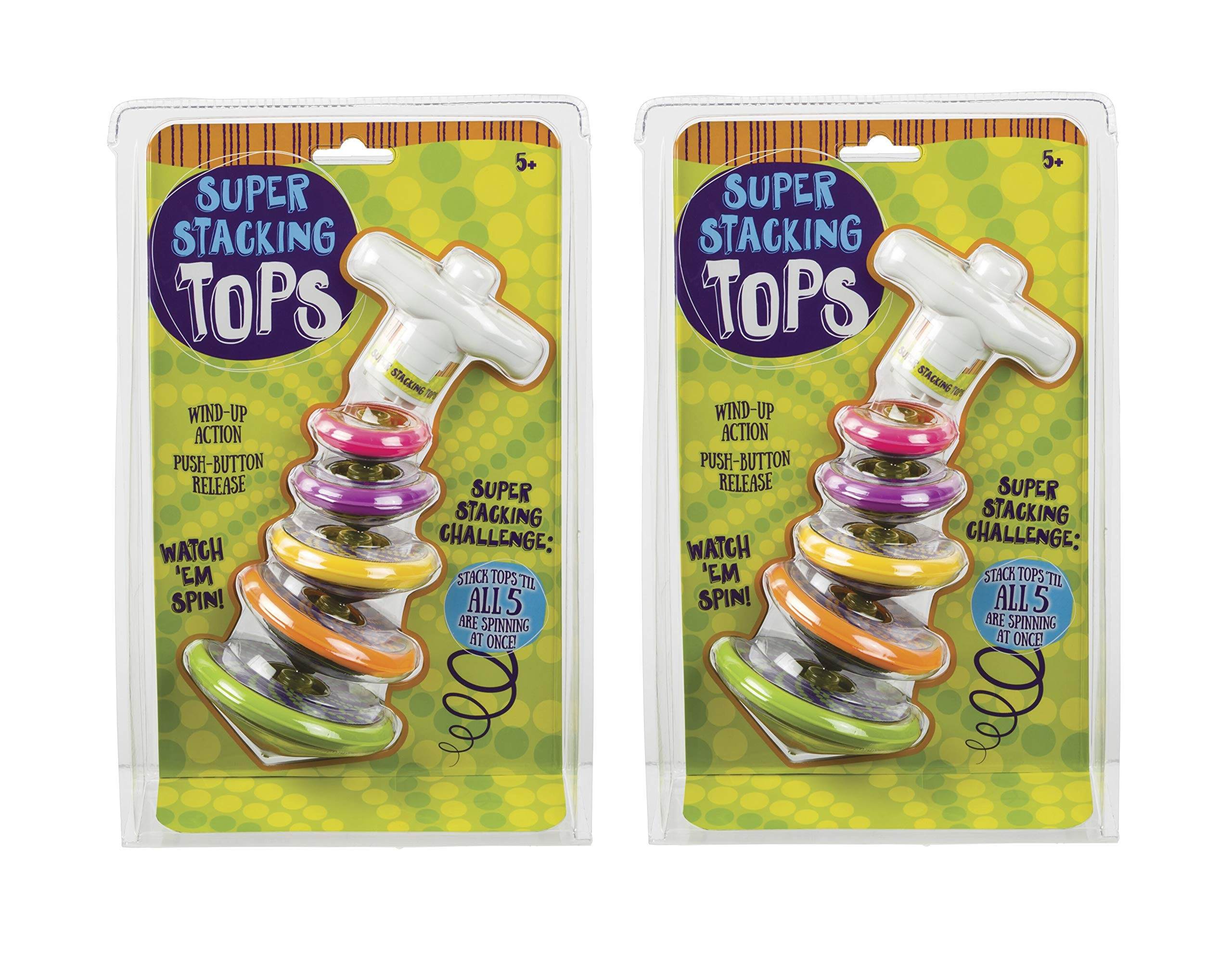 Toysmith (2 Pack) Bundle Savers! Super Stacking Tops by Toysmith