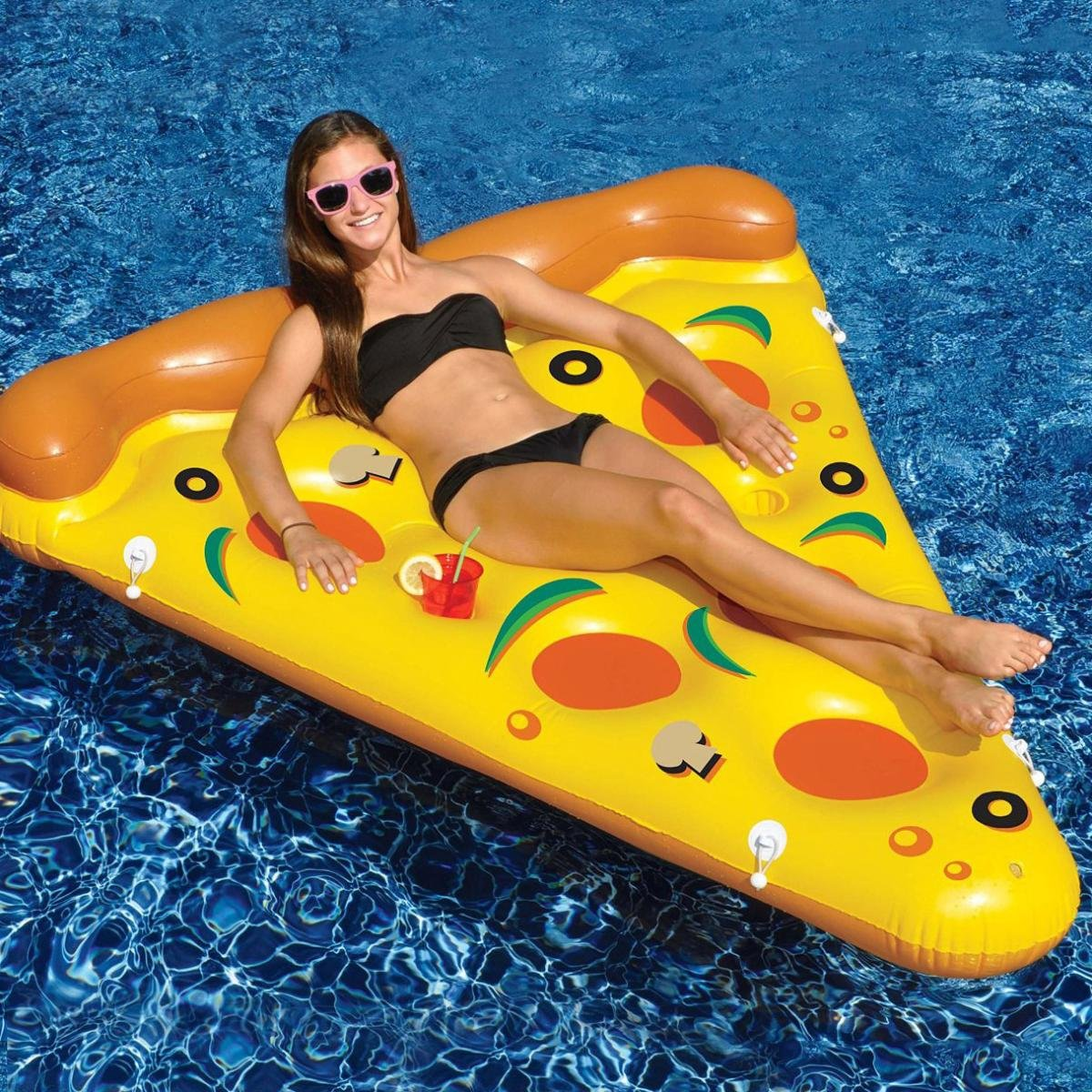 Swimline Giant Inflatable Pizza Slice for Swmming Pool (8 Pack) by Swimline (Image #2)
