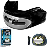 Brain-Pad Pro+ Men's Dual Channel Jaw Joint Protector Mouth Guard - Black/Grey, Size 1