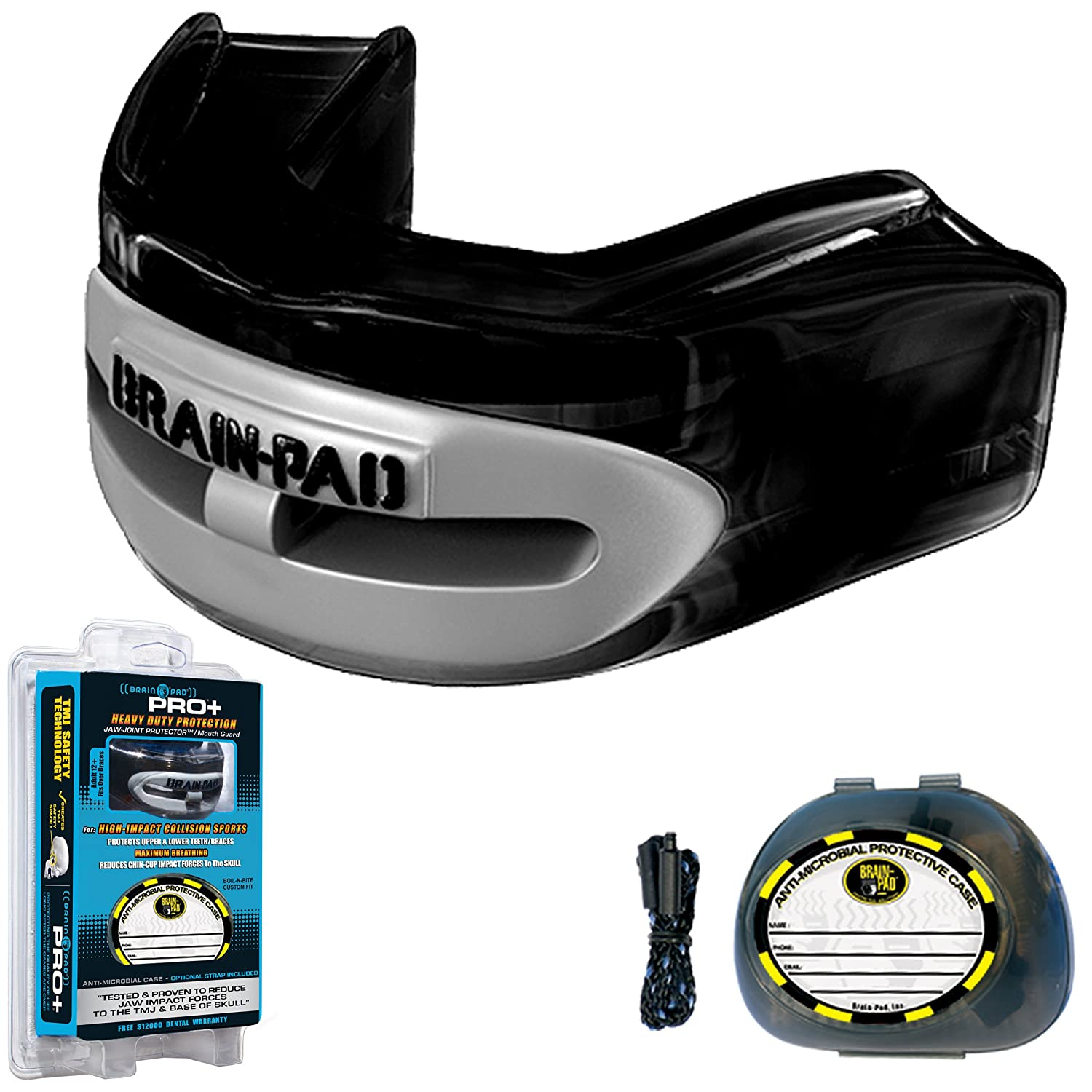 輝い Brain-Pad PRO+PLUS Strap -/Strapless Title Mouthguard - ADULT - Black Mouthguard/Gray by Title Boxing B000A7V9NK, glassliving奏:2f76ac6b --- a0267596.xsph.ru